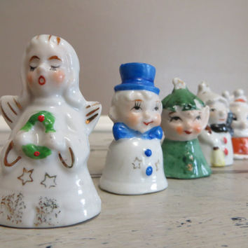 Ornaments Christmas Tree Ornaments Ceramic Ornaments Vintage Ornaments Made in Japan Angel Rudolph Snowman Elf