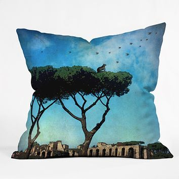 Belle13 The Cat King Of Rome Throw Pillow
