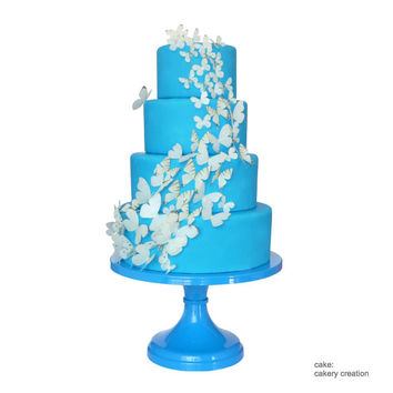 Blue Wedding Cake Stand