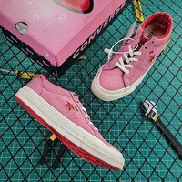 Hello Kitty x Converse One Star Grey Suede Low Top Pink Shoes - Best Online Sale