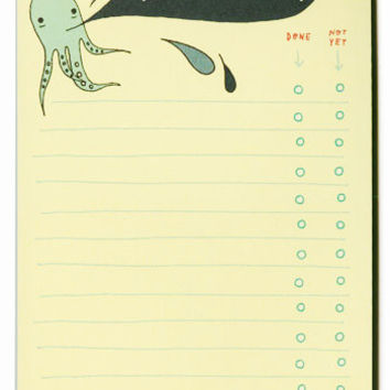 Inky Octopus To-Do List Notepad