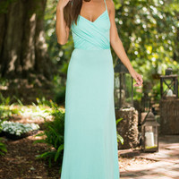 Cross It On Over Maxi Dress, Mint