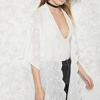 Contemporary Embroidered Kimono