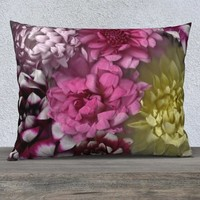 Dahlia Delight * Flower Blossom Pillow Cover * Pink and Purple Floral Pillowcase * Floral Home Decor * Colorful Flower Accent Pillowcase