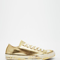 Converse Gold Chuck Taylor Low Top Trainers