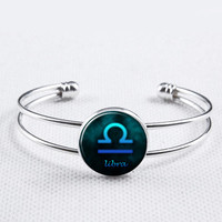 Zodiac Sign Bangle-Libra  Bracelet, Constellation  Jewelry,Astrology Bracelet, Astrology Jewelry, Astrological Jewelry, Zodiac Bracelet