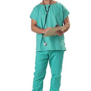 Adult Doctor Scrubs (X-Large,Green)