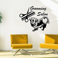 Grooming Salon Wall Decal Vinyl Sticker Decals Petshop Dog Animals Home Decor Art Design Interior C496