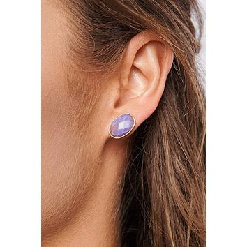 Landon Stud Earrings (Purple)
