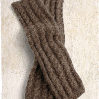 Handknit Alpaca Tweed Legwarmers - Fall
