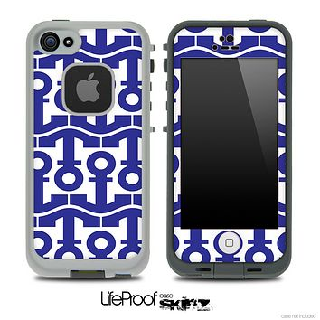 White and Blue Collage Skin for the iPhone 5 or 4/4s LifeProof Case