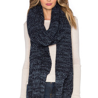Brixton Dakota Scarf in Heather Navy
