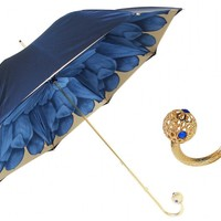 Pasotti Blue Dahlia Umbrella