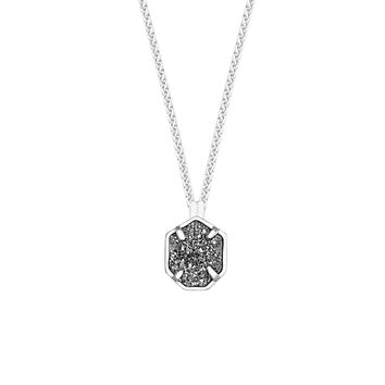 Oliver Silver Necklace in Platinum Drusy - Kendra Scott Jewelry