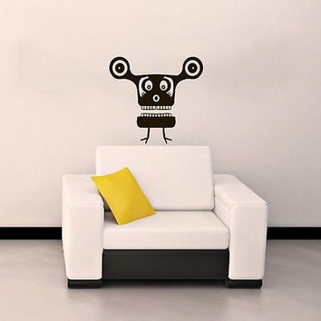 WALL VINYL STICKER CHILDREN'S DECALS MURAL FUNNY MONSTER IN THE NURSERY SV2031