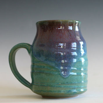 LARGE Coffee Mug, 19 oz, unique coffee mug, handmade ceramic cup, handthrown mug, stoneware mug, pottery mug, ceramics and pottery