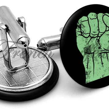 Incredible Hulk Fist Cufflinks