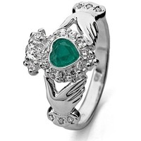 Claddagh Ring LS-RS971 Sterling Silver. Made in Ireland.