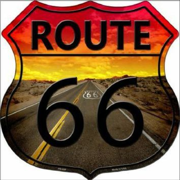 Route 66 Highway Shield Sign  11 inch  die cut  sign