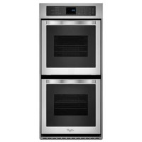Whirlpool, 24 in. Double Electric Wall Oven Self-Cleaning in Stainless Steel, WOD51ES4ES at The Home Depot - Mobile