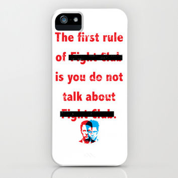 The First Rule of Fight Club... iPhone & iPod Case by Jon Hernandez