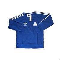 ADIDAS PALACE  Men and women model cotton sweater Blue