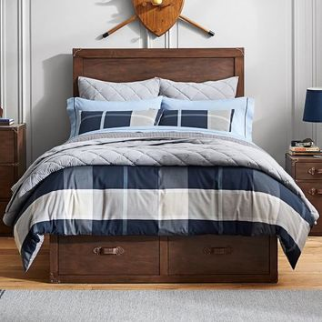 Preston Plaid Reversible Duvet Cover + Sham