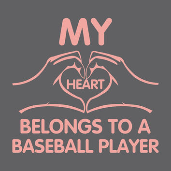 Tshirts For Women Shirt For Girls Ladies Tops Baseball Love Heart Shirts Girls Sports Fan Game Day Softball Ball