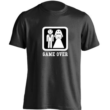 Game over wedding bachelor party Mens & Womens Cool T Shirt Design T Shirt