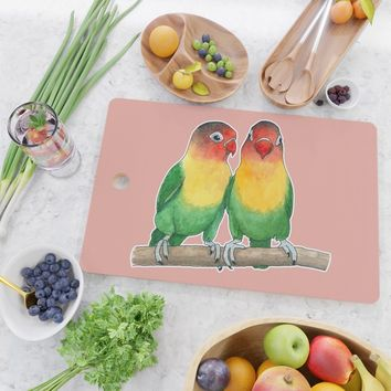 Fischer's lovebirds Cutting Board by savousepate