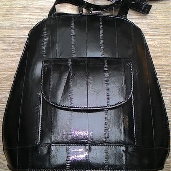 Eel leather backpack leather womans bag
