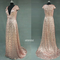 sequin prom dresses, dresses for prom, Sexy prom dresses, short sleeve prom dress, prom dresses 2014, cheap prom dresses, RE427