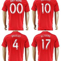 Toronto FC Soccer Jersey 4 BRADLEY 10 GIOVINCO 17 ALTIDORE BLANK Home Red Customize An