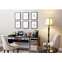 See Jane Work Vivien Mirrored Desk 30 H x 47 14 W x 23 18 D Espresso by Office Depot & OfficeMax