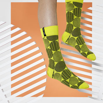 LØVE + FUN Socks First Season - Roundy Series Yellow