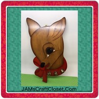 Rudolph Reindeer Wall Art Vintage Christmas Holiday Decoration