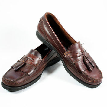 Men's Bass Leather Tassled Boat Shoes
