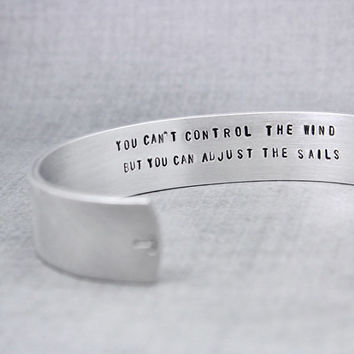 Inspiration Cuff, Anchor Bracelet,  Encouragement Cuff, Quote Cuff, Anchor Cuff, Handstamped Cuff, Handstamped Jewelry, Personalized Jewelry