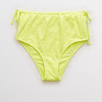 Aerie High Waisted Cheeky Bikini Bottom , Yellow