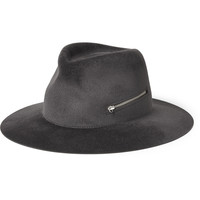 Larose - Zip-Detailed Rabbit-Felt Fedora Hat | MR PORTER