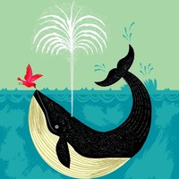 """""""The Bird And The Whale"""" - Art Print by Oliver Lake"""