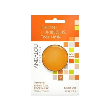 Andalou Naturals Mask Pod, Instant Luminous - Pack of 6