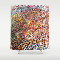 abstract colors 2 Shower Curtain by Agostino Lo Coco