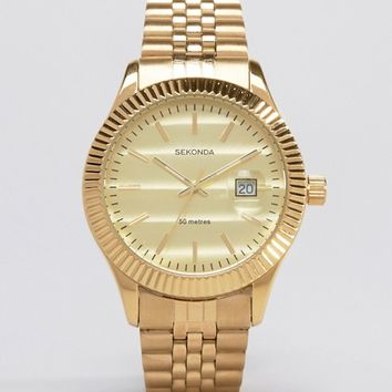 Sekonda Gold Bracelet Watch Exclusive To ASOS at asos.com