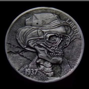 Hunter S. Thompson Hobo Nickel Magnet