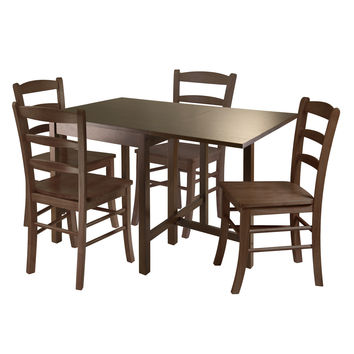 Lynden 5pc Dining Table with 4 Ladder Back Chairs by Winsome Woods