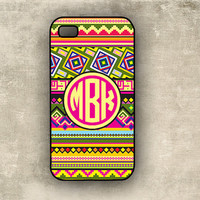 iPhone 4 case - Tribal, aztec pattern - preppy circle monogram Iphone cover  4s(9887)