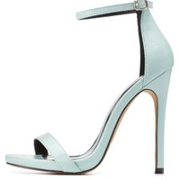 Mint Single Strap Mini-Platform High Heels by Charlotte Russe