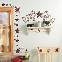 Country Stars & Berries Peel & Stick Wall Decals Removable Dining Kitchen Decor