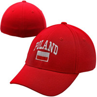 Top of the World Poland Country 1Fit Flex Hat - Red